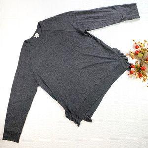Anthropologie Post Mark Gray Sweater SZ XL